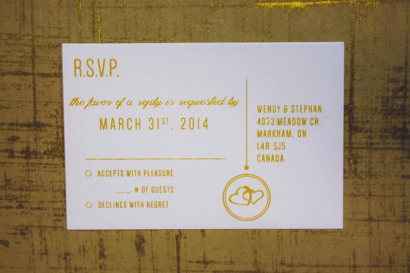 Wright Family Wedding Invitation